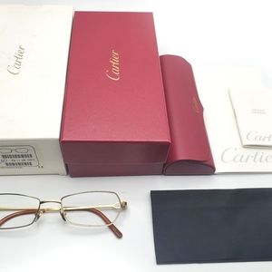 NEW! Cartier Gold Eyeglasses Shiver T8100789